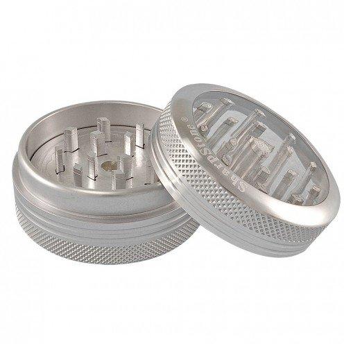 Młynek Aluminiowy Sharpstone Pushclean Srebrny  (Ø56mm, 2 częśći)