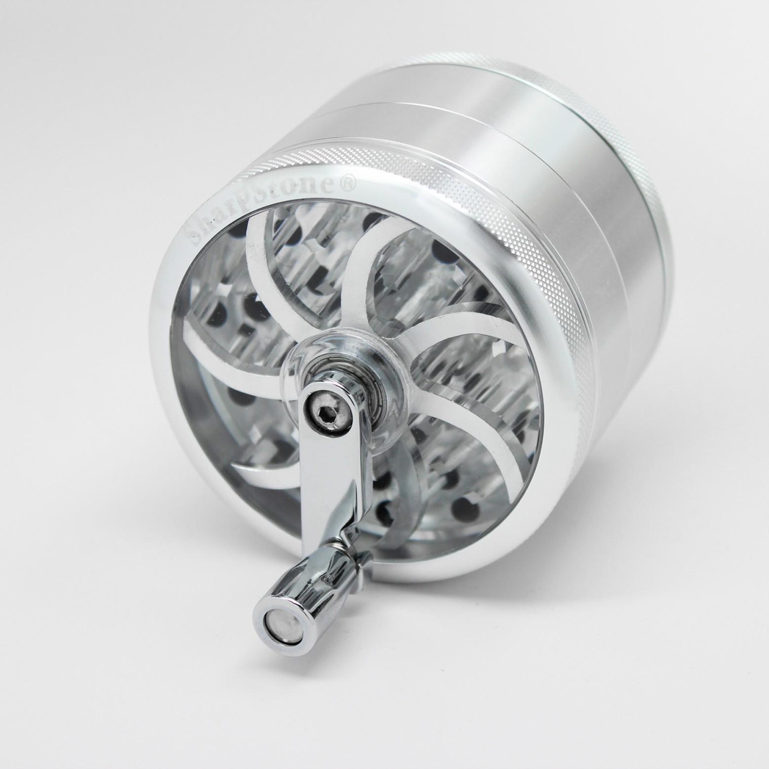 Młynek Sharpstone Turbowheel Grinder Srebrny (Ø64mm 4 części)